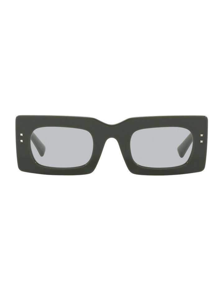 Black Tint Rectangle Sunglasses image 2