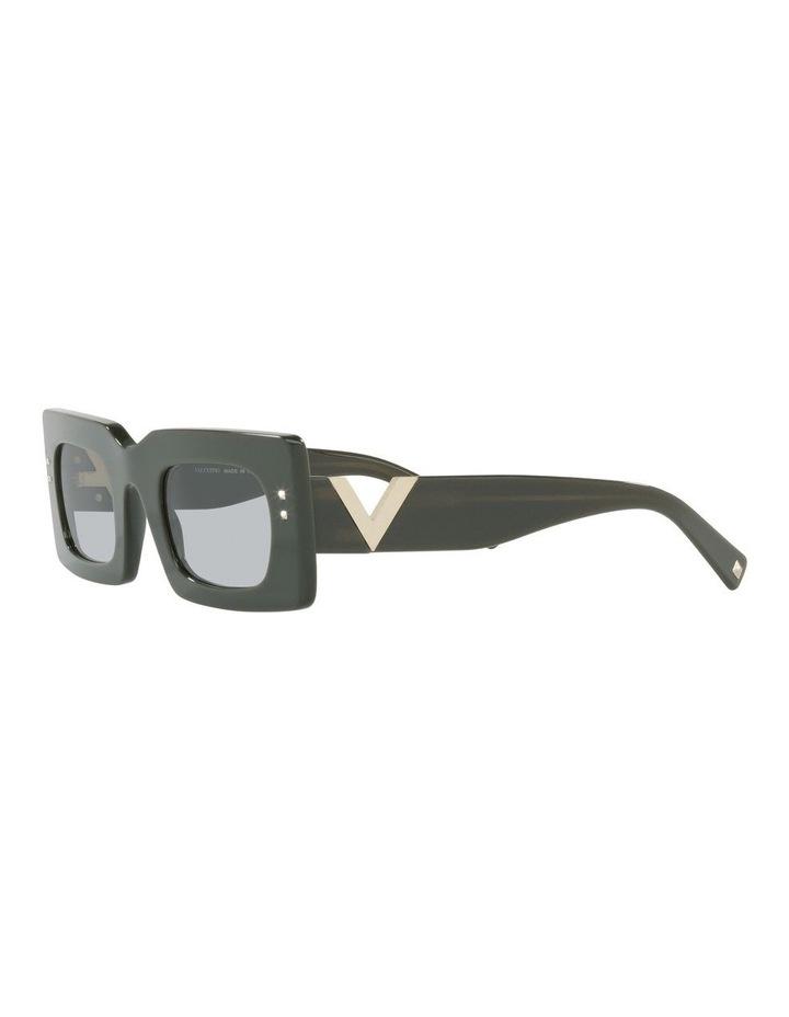 Black Tint Rectangle Sunglasses image 3