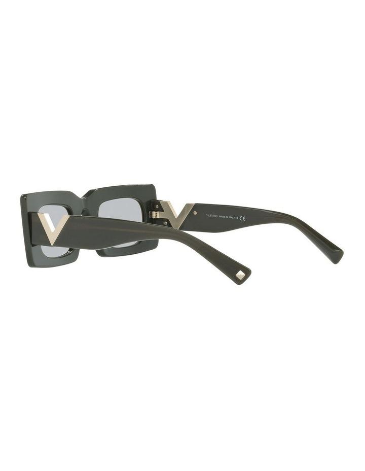 Black Tint Rectangle Sunglasses image 5