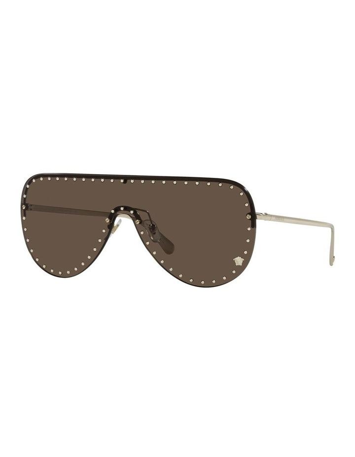 Gold/ Brown Square Sunglasses 0VE2230B image 1