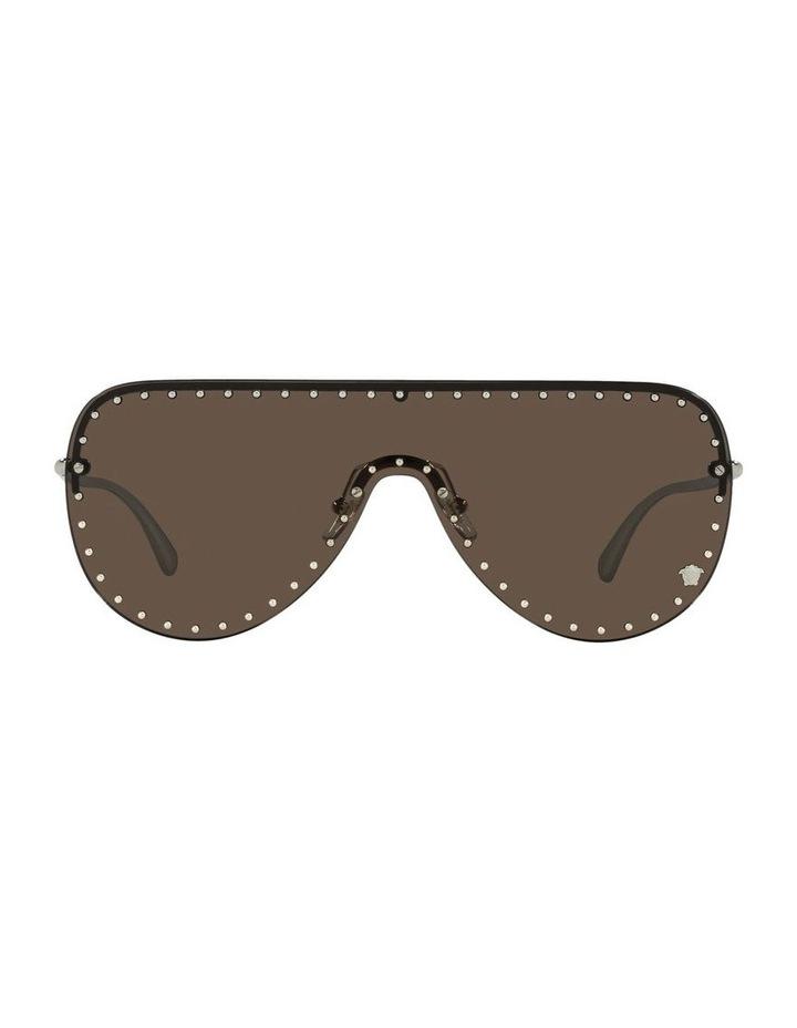 Gold/ Brown Square Sunglasses 0VE2230B image 2