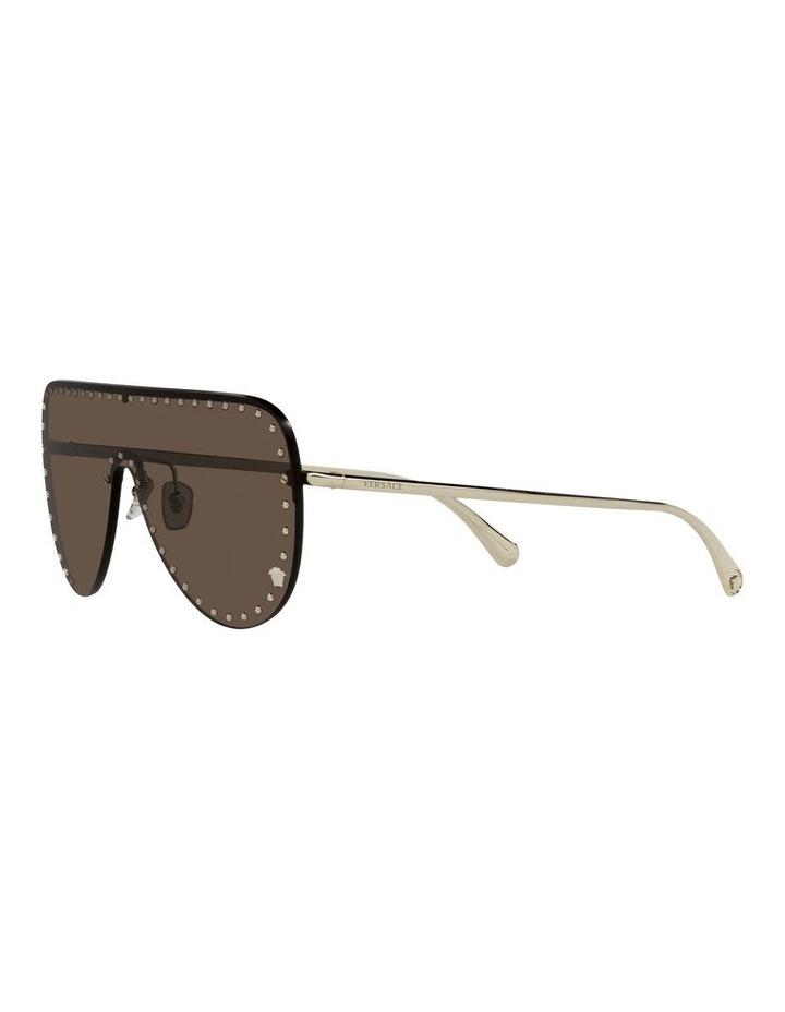 Gold/ Brown Square Sunglasses 0VE2230B image 3