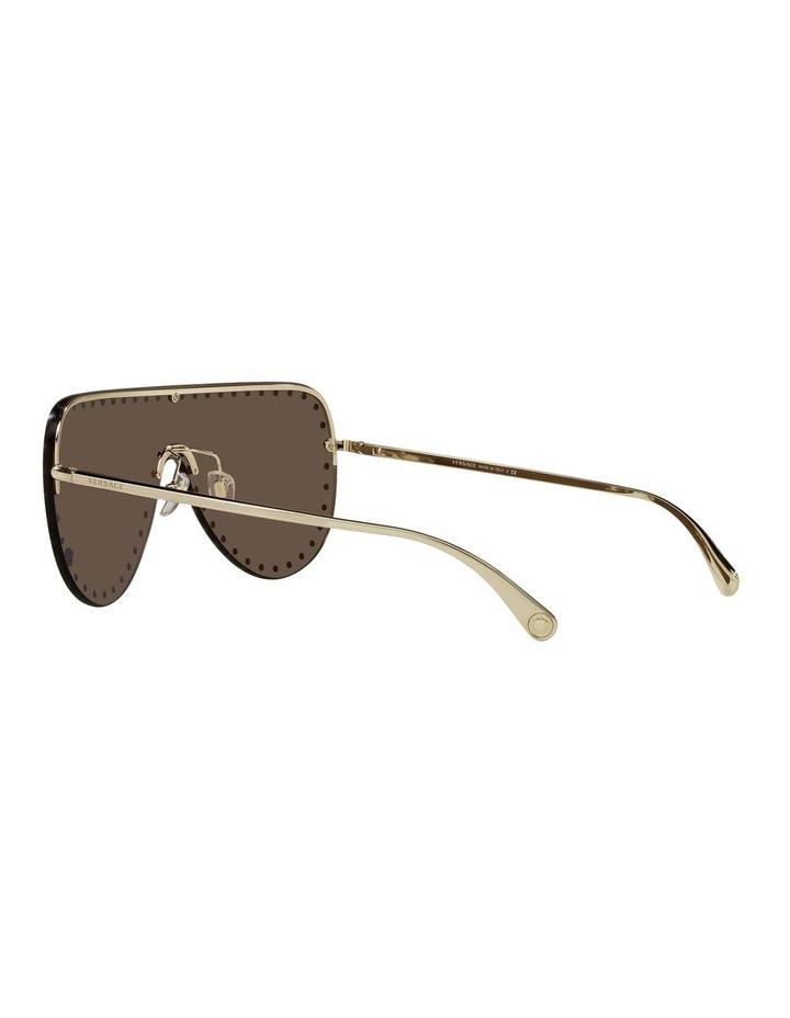 Gold/ Brown Square Sunglasses 0VE2230B image 5