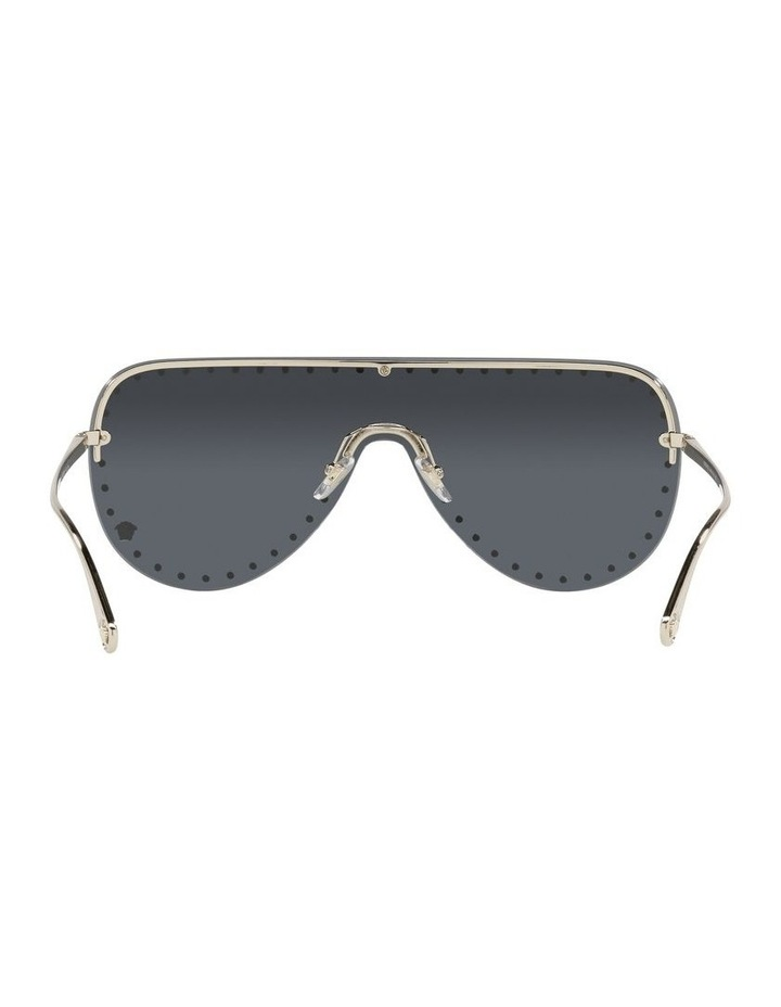 Gold/ Black Square Sunglasses 0VE2230B image 7