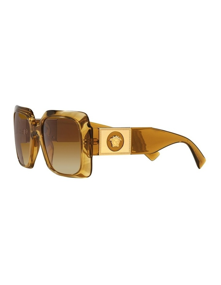 Yellow/ Gold Rectangle Sunglasses 0VE4405 image 3