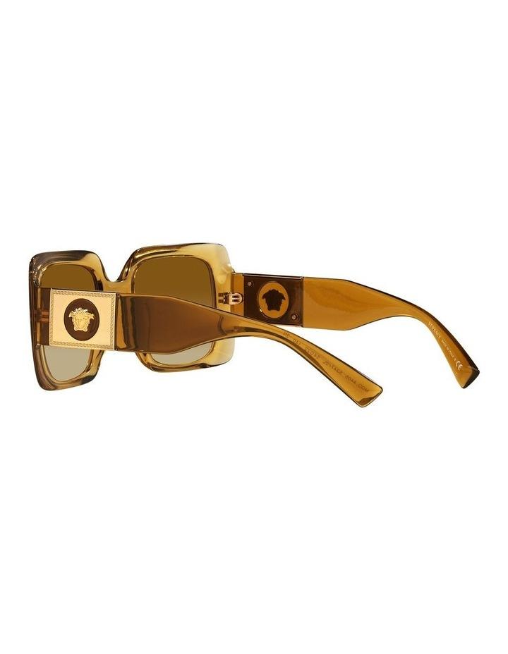 Yellow/ Gold Rectangle Sunglasses 0VE4405 image 5