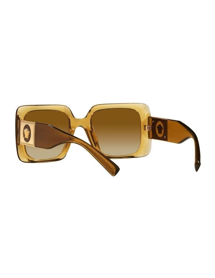 Yellow/ Gold Rectangle Sunglasses 0VE4405 image 6