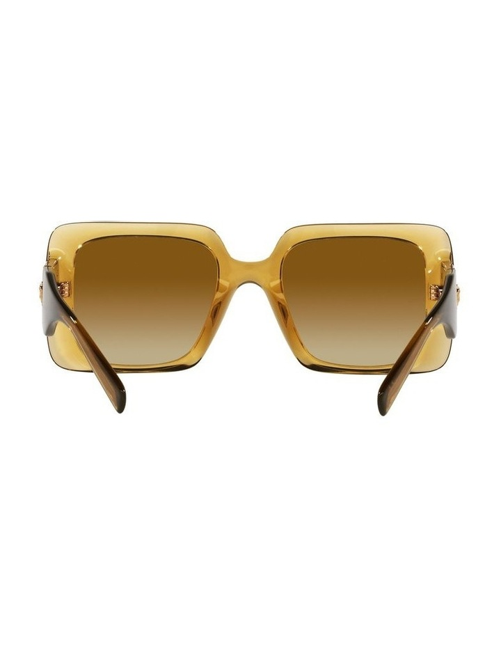 Yellow/ Gold Rectangle Sunglasses 0VE4405 image 7