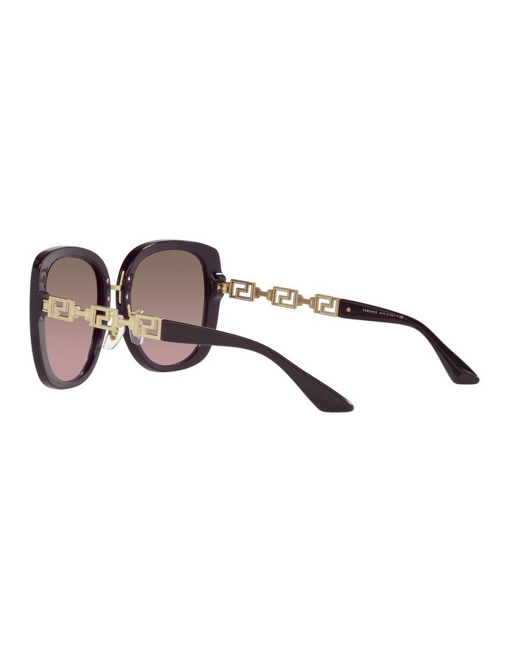 Red/ Gold Rectangle Sunglasses 0VE4407D image 5