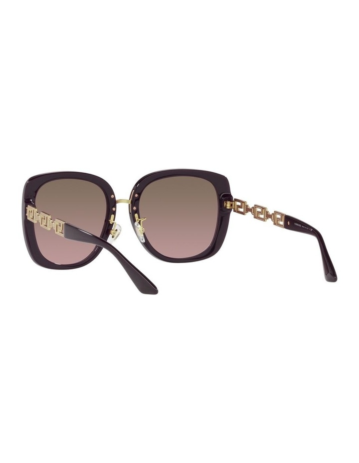 Red/ Gold Rectangle Sunglasses 0VE4407D image 6