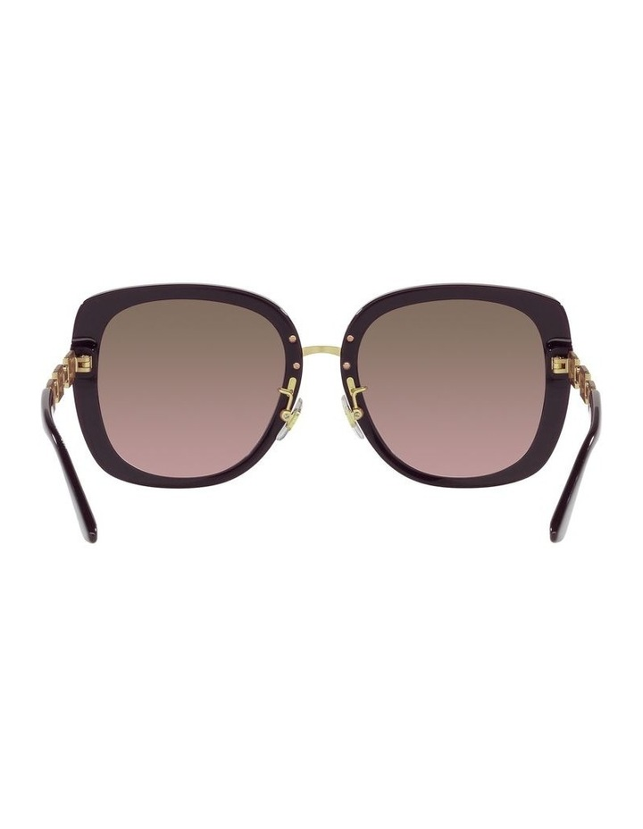 Red/ Gold Rectangle Sunglasses 0VE4407D image 7