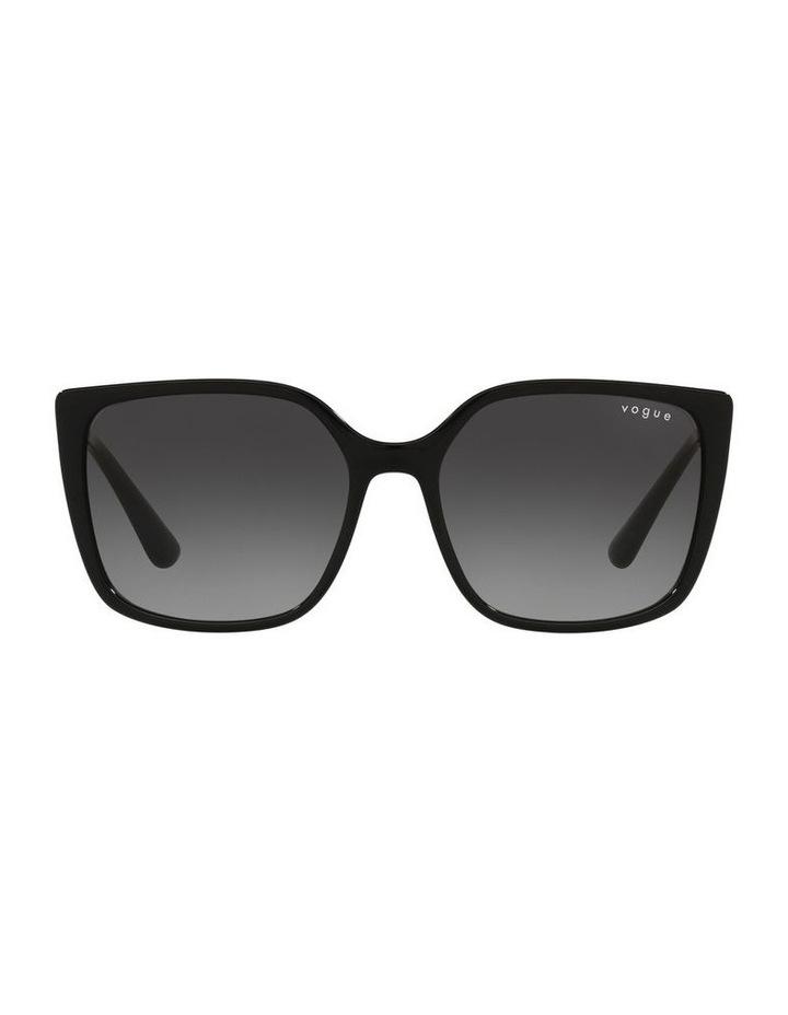 Black/ Gold Square Sunglasses 0VO5353S image 2