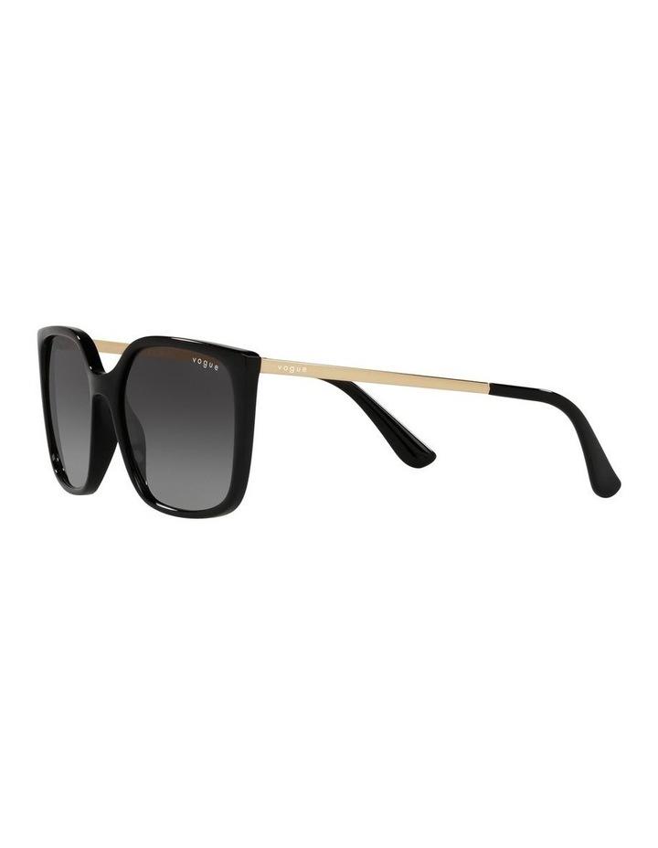 Black/ Gold Square Sunglasses 0VO5353S image 3
