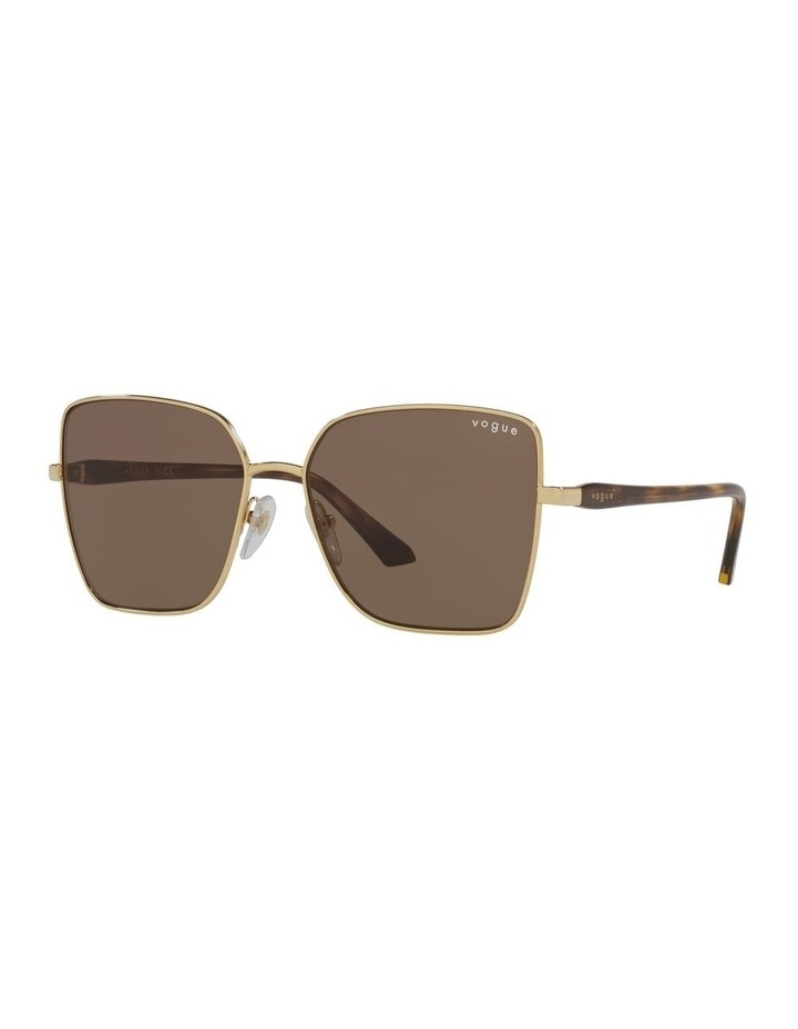 Brown/ Gold Cat Eye Sunglasses 0VO4199S image 1