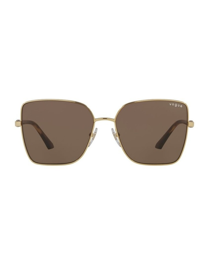 Brown/ Gold Cat Eye Sunglasses 0VO4199S image 2