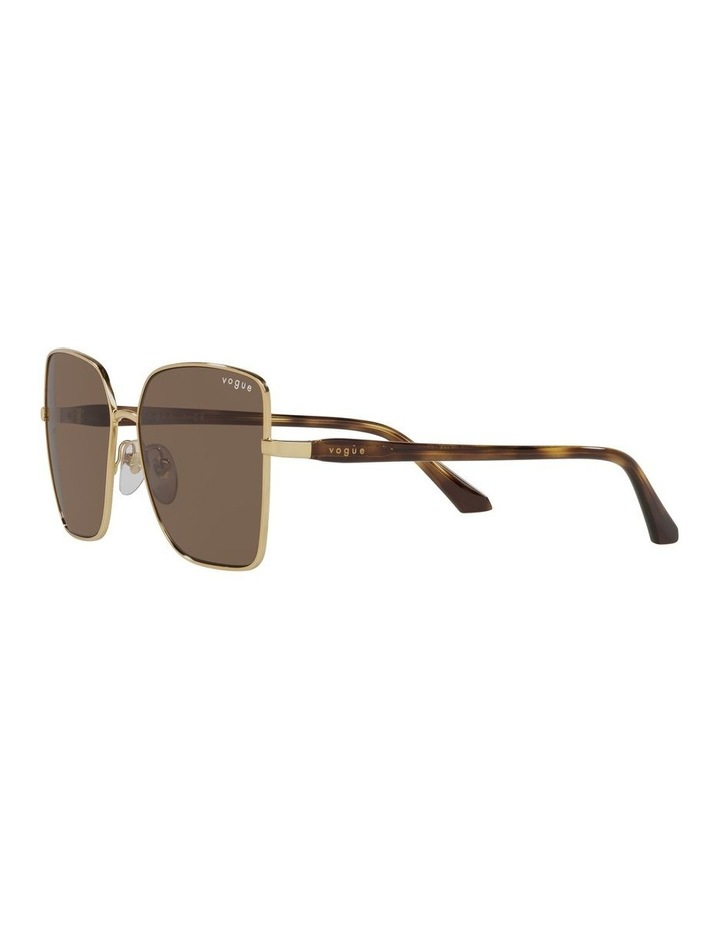 Brown/ Gold Cat Eye Sunglasses 0VO4199S image 3