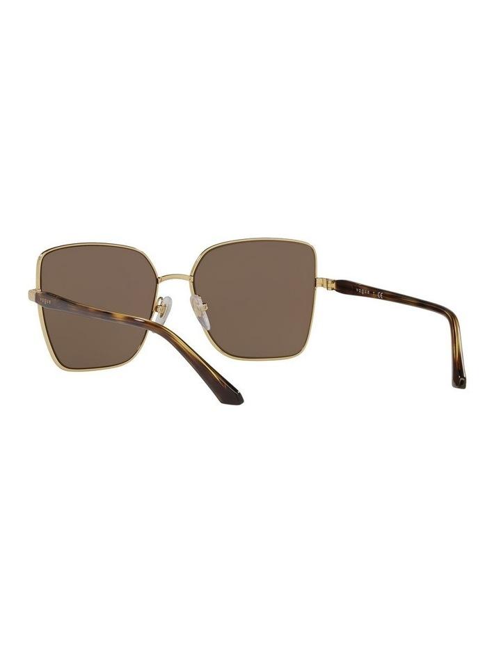 Brown/ Gold Cat Eye Sunglasses 0VO4199S image 6