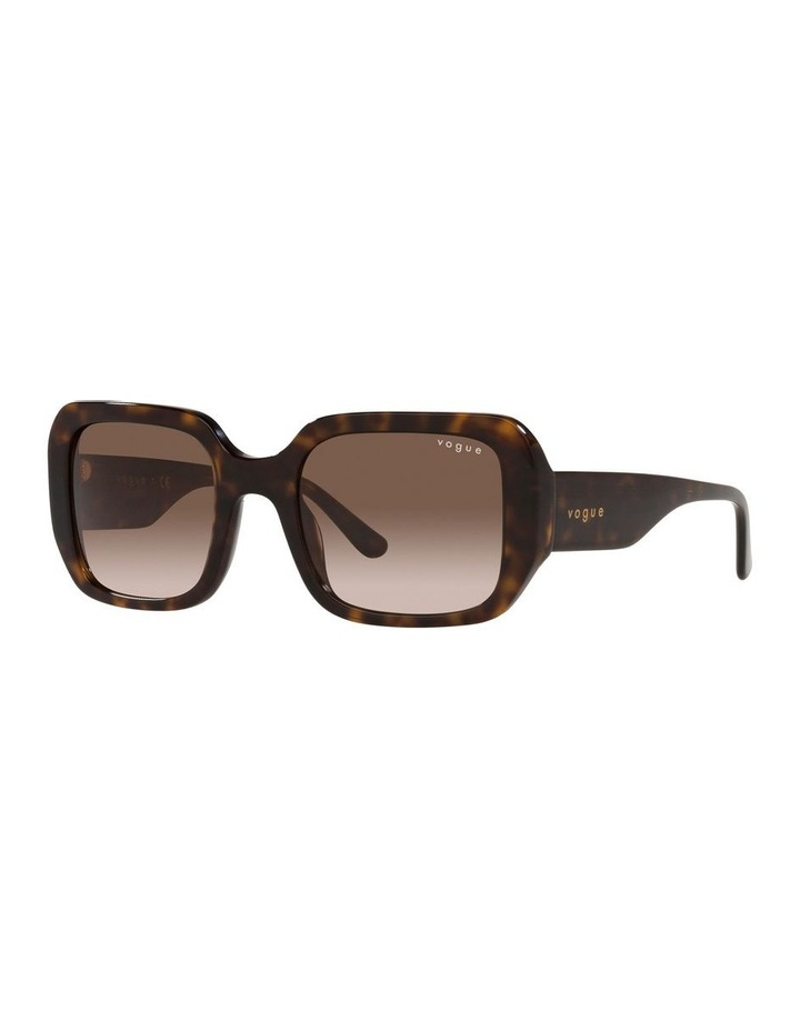 Brown Rectangle Sunglasses 0VO5369S image 1