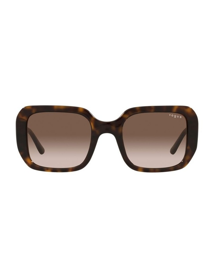 Brown Rectangle Sunglasses 0VO5369S image 2