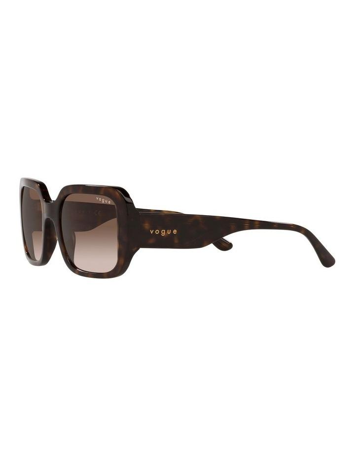 Brown Rectangle Sunglasses 0VO5369S image 3
