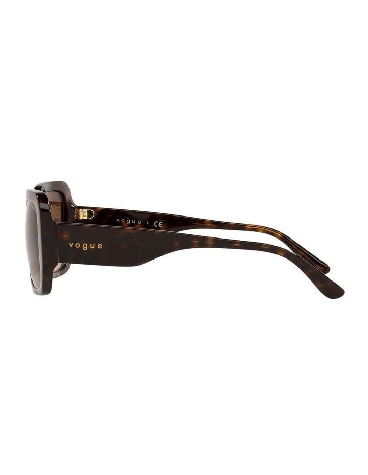Brown Rectangle Sunglasses 0VO5369S image 4