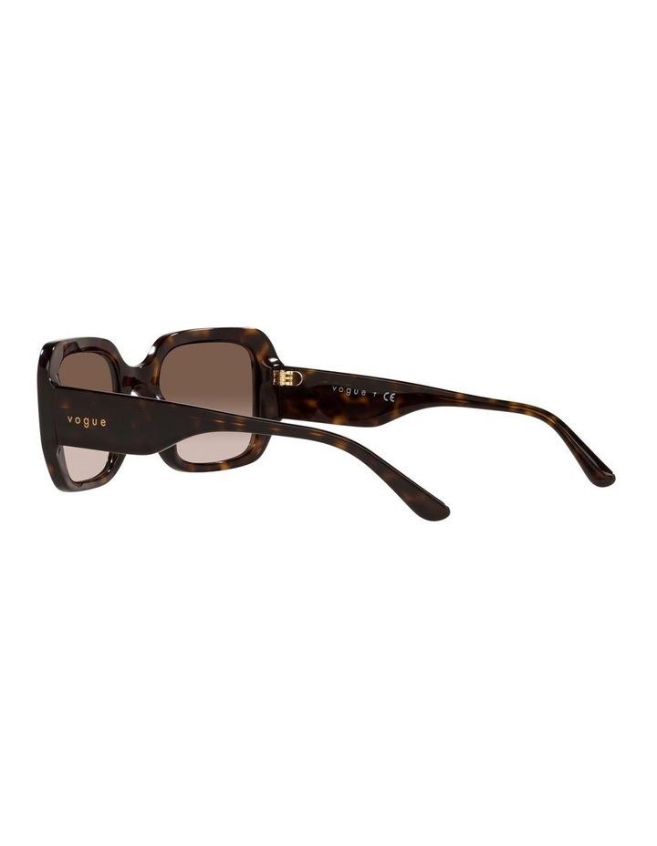 Brown Rectangle Sunglasses 0VO5369S image 5
