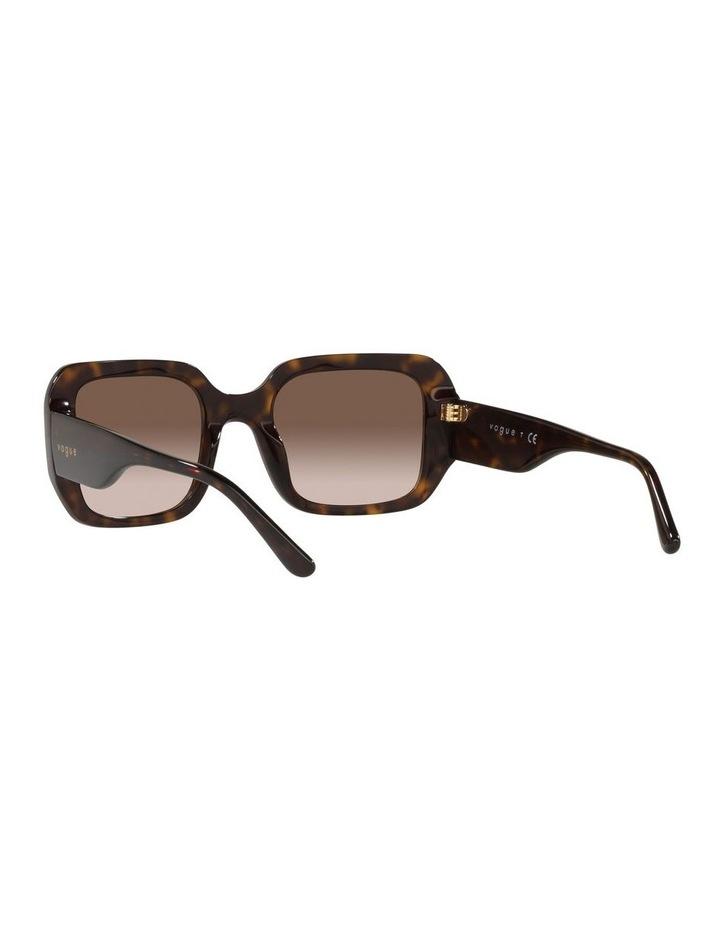 Brown Rectangle Sunglasses 0VO5369S image 6