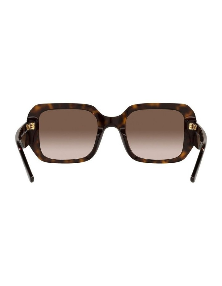 Brown Rectangle Sunglasses 0VO5369S image 7