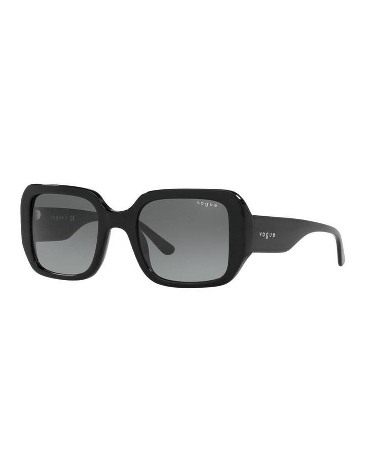 Black Rectangle Sunglasses 0VO5369S image 1