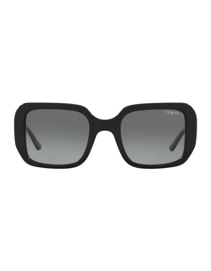 Black Rectangle Sunglasses 0VO5369S image 2
