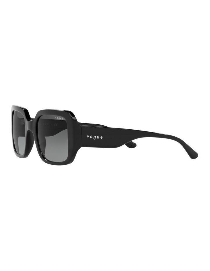 Black Rectangle Sunglasses 0VO5369S image 3