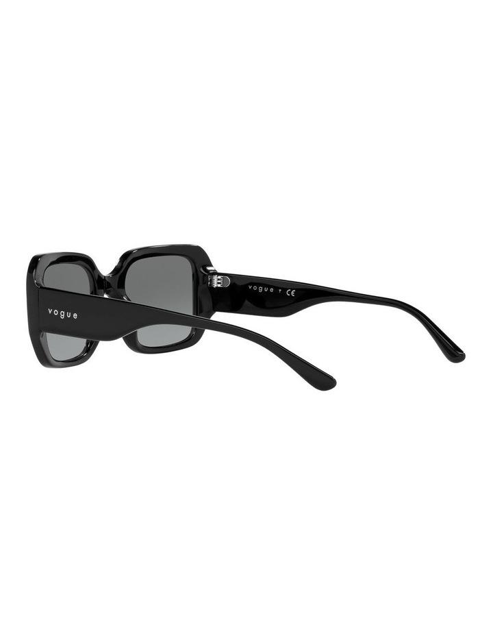 Black Rectangle Sunglasses 0VO5369S image 5