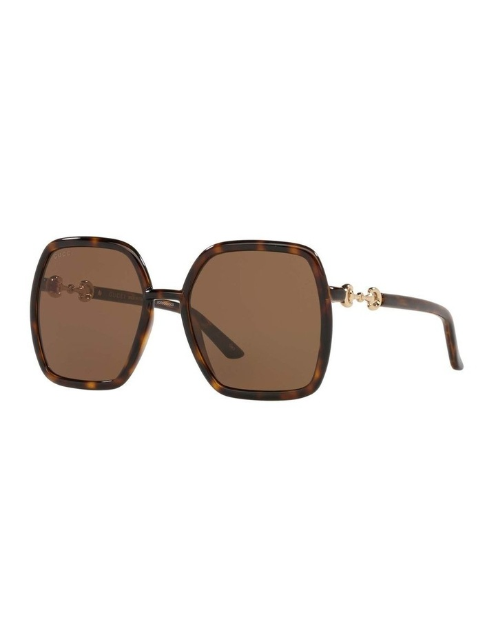 Tortoise Rectangle Sunglasses 0GC001516 1535963002 image 1