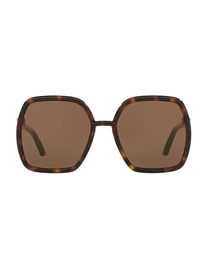 Tortoise Rectangle Sunglasses 0GC001516 1535963002 image 2
