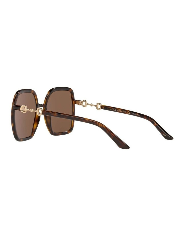 Tortoise Rectangle Sunglasses 0GC001516 1535963002 image 5
