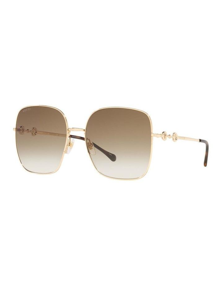 Gold Rectangle Sunglasses 0GC001507 1535974002 image 1