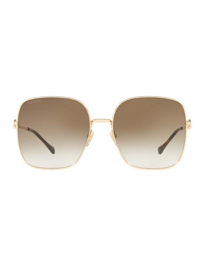 Gold Rectangle Sunglasses 0GC001507 1535974002 image 2