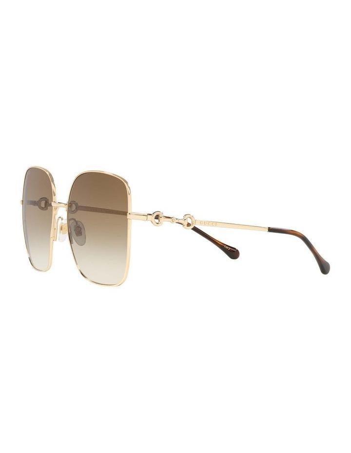 Gold Rectangle Sunglasses 0GC001507 1535974002 image 3