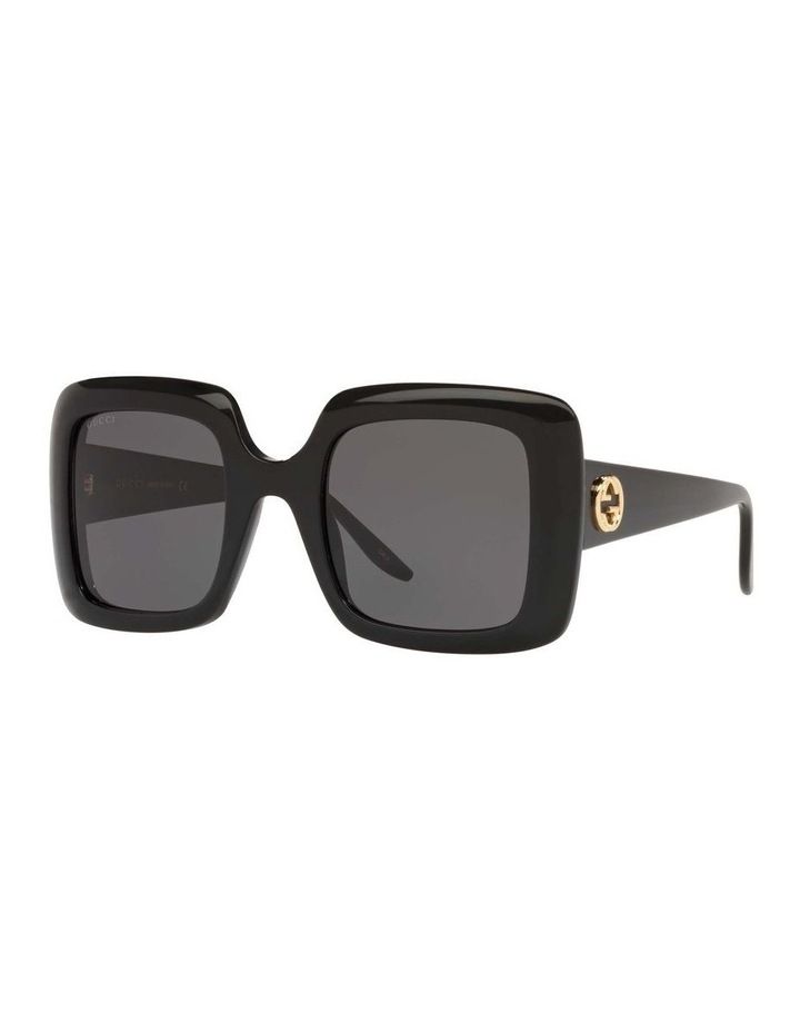 Black Rectangle Sunglasses 0GC001518 1535975001 image 1