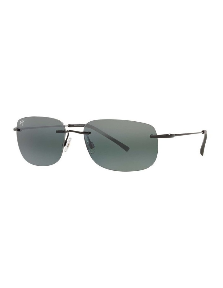 Ohai Polarised Black Rectangle Sunglasses 0MJ000670 1535856004 image 1