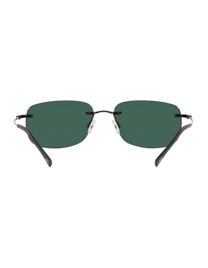 Ohai Polarised Black Rectangle Sunglasses 0MJ000670 1535856004 image 7