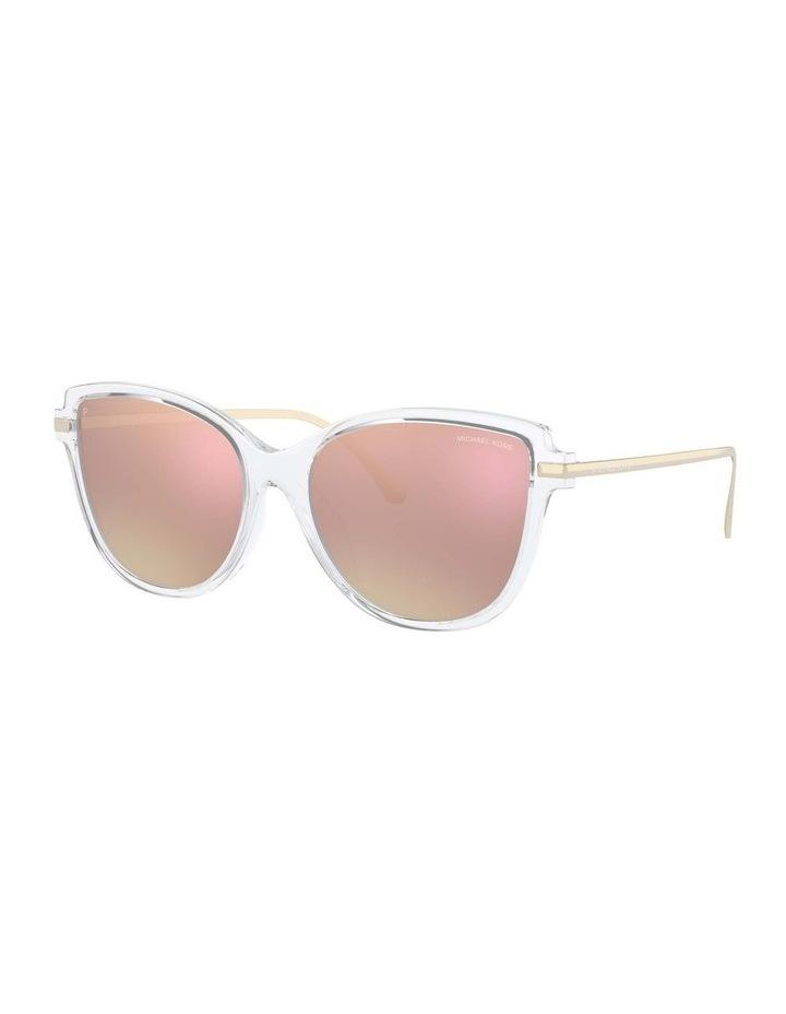 Sorrento Polarised Transparent/Pink Cat Eye Sunglasses 0MK2130U 1534827006 image 1