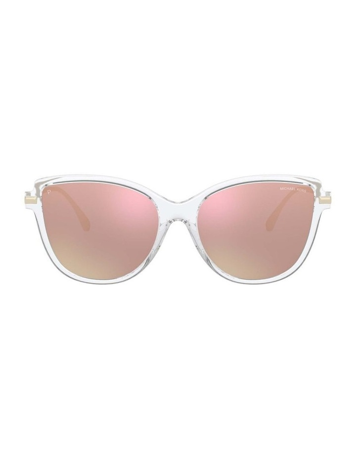 Sorrento Polarised Transparent/Pink Cat Eye Sunglasses 0MK2130U 1534827006 image 2