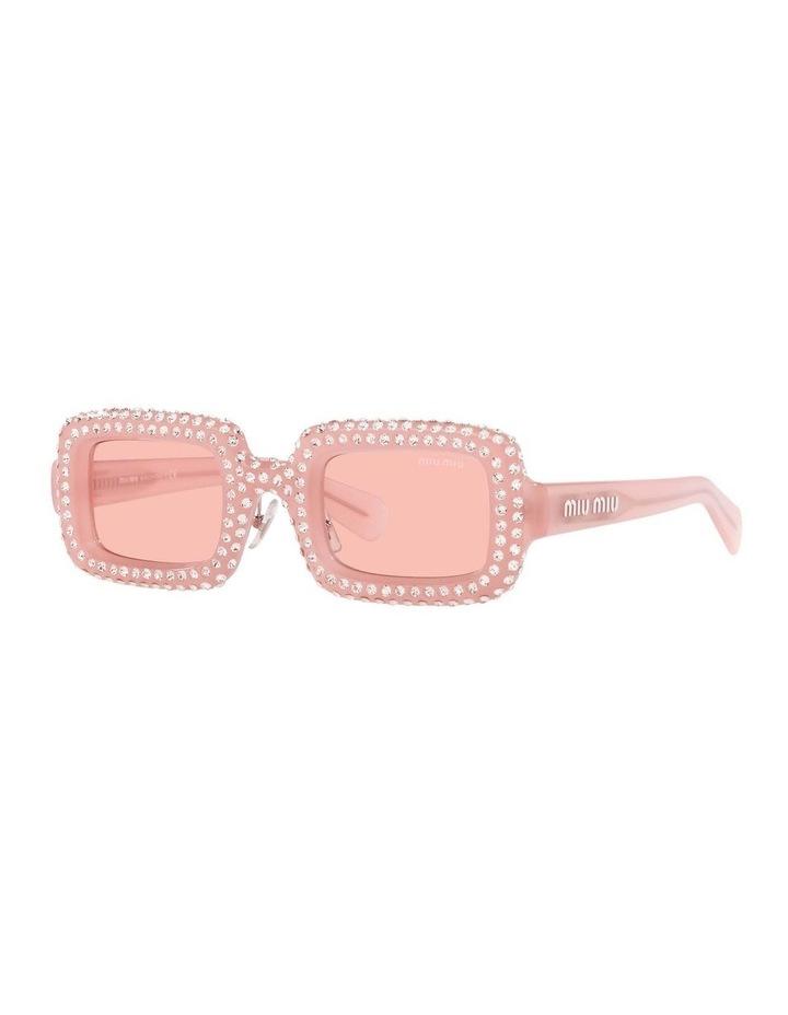 Pink Diamante Rectangle Sunglasses 0MU 09XS 1536012001 image 1
