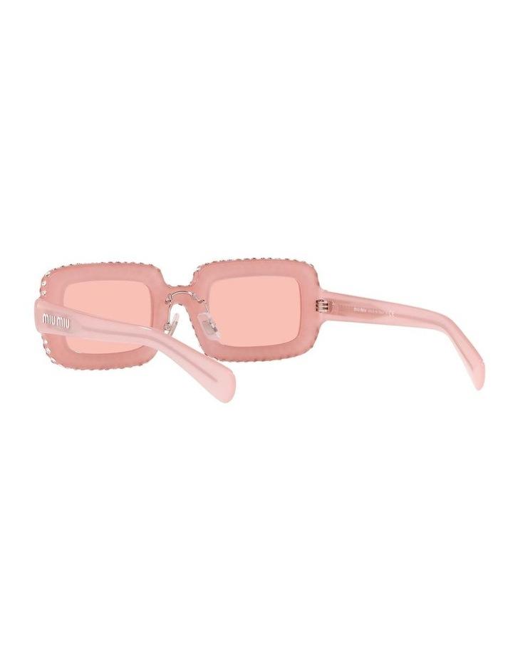 Pink Diamante Rectangle Sunglasses 0MU 09XS 1536012001 image 6