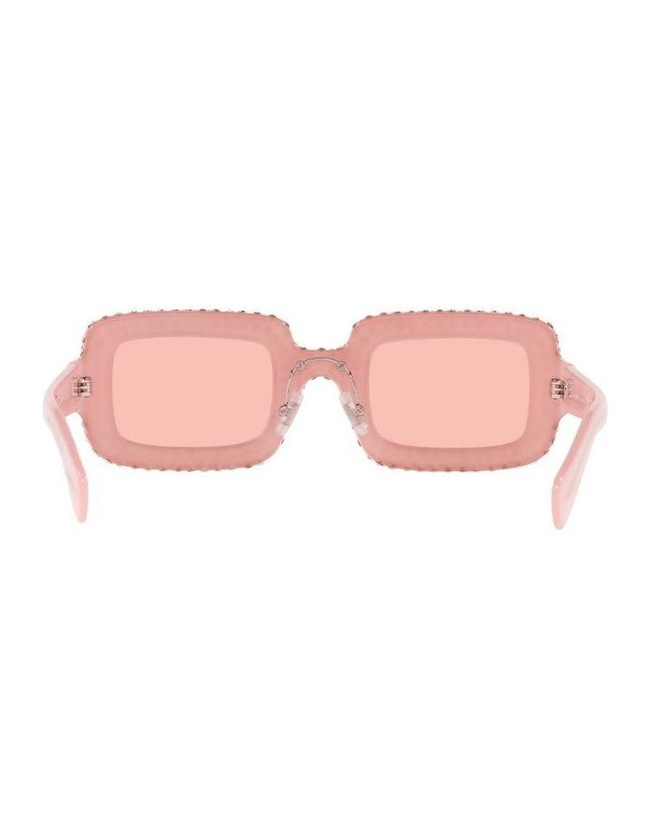 Pink Diamante Rectangle Sunglasses 0MU 09XS 1536012001 image 7