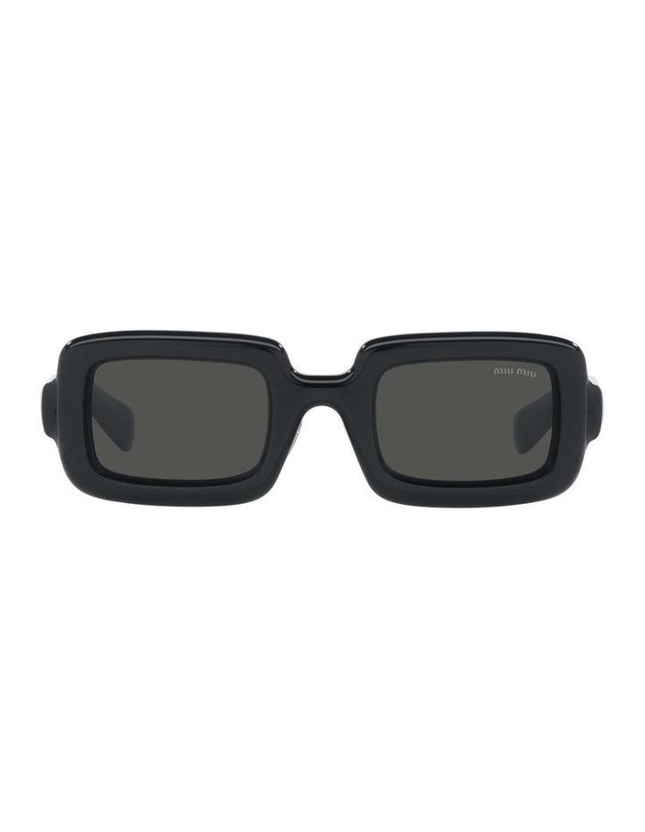 Grey Rectangle Sunglasses 0MU 09XS 1536012002 image 2
