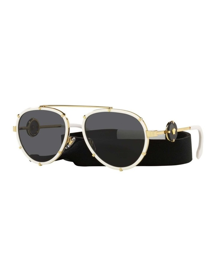 White/Gold Aviator Sunglasses With Strap 0VE2232 1535921002 image 1