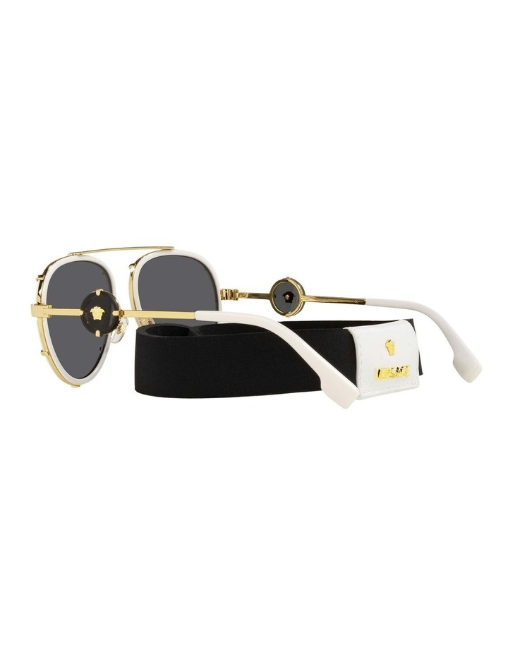 White/Gold Aviator Sunglasses With Strap 0VE2232 1535921002 image 5