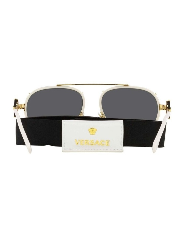 White/Gold Aviator Sunglasses With Strap 0VE2232 1535921002 image 7